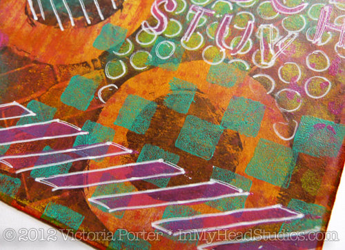 """Summer Evening"" Gelli Monoprint 4"