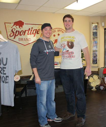 Reid Fragel - OSU Buckeye in Buckeye Donuts Shirt