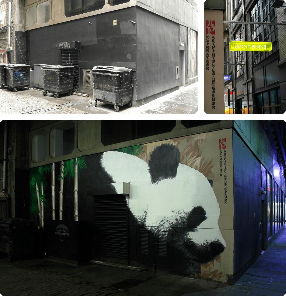 Giant Panda animal art in Glasgow