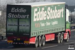 Volvo FH 6x2 Tractor - PX60 CKL - Ellie Joanne - Green & Red - 2010 - Eddie Stobart - M1 J10 Luton - Steven Gray - IMG_0864