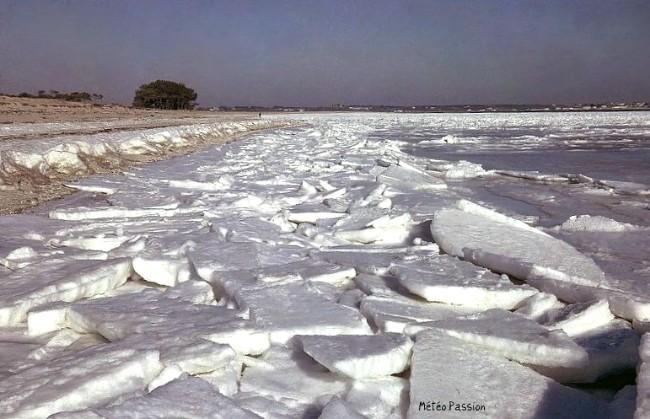 baie de Quiberon gelée en janvier 1963 météopassion