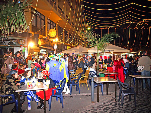 Pavement Cafés at Carnival Street Party, Puerto de la Cruz