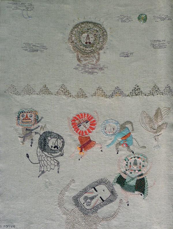Un-Buda-y-danza-de-leones-con-mascaras-600x792