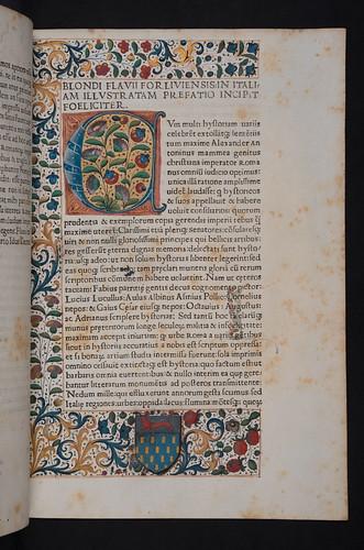 Decorated page in Blondus, Flavius: Italia illustrata