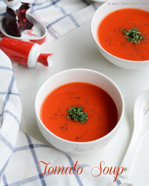 Easy tomato soup recipe | How to make tomato soup - Raks Kitchen