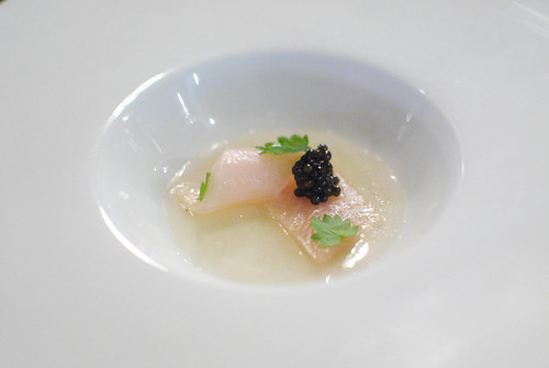 hamachi salad burnet and caviar