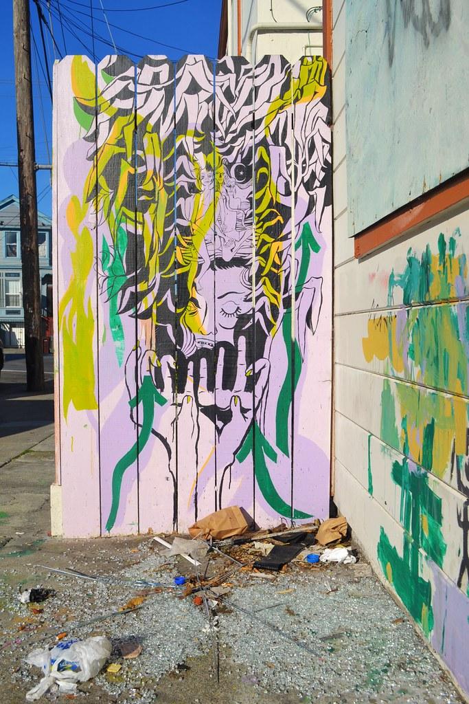 LIZZIE, Street Art, Oakland, Mural