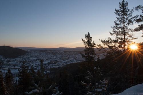 winter sunrise kongsberg