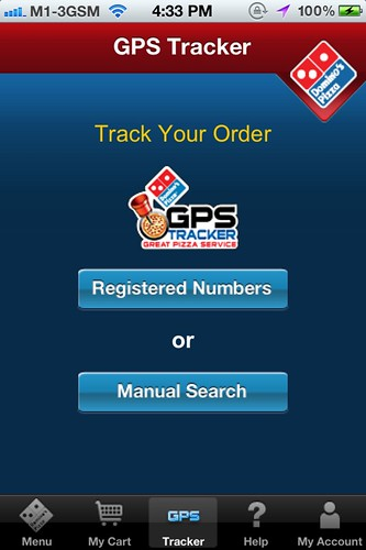 Domino's iPhone app