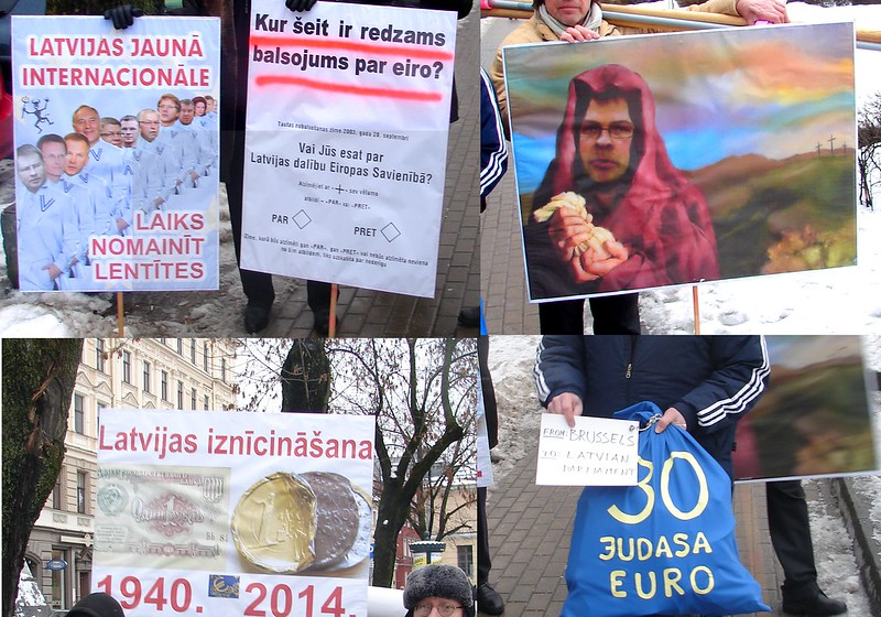 Protest against forceful introduction of EUR in Latvia (no vote nor referendum) by aigarsbruvelis