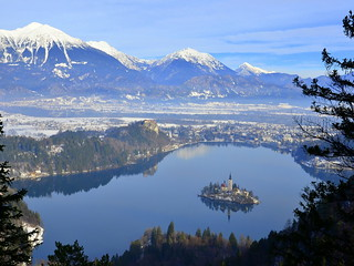 Bled, pogled z Velike Osojnice/ Bled, view from Velika Osojnica