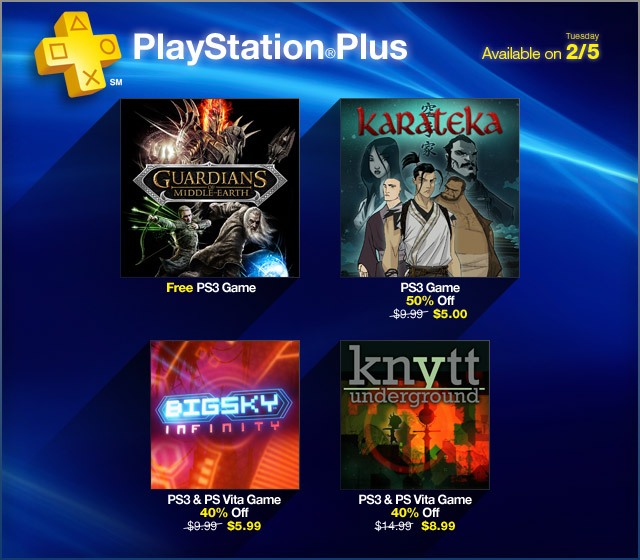 PlayStation Plus Update 2-4-2013
