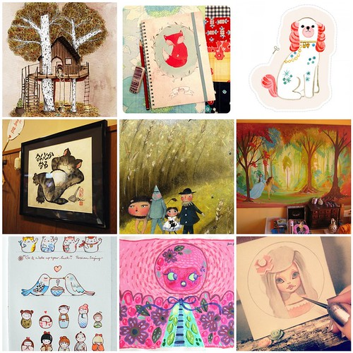 Friday Funspiration: cute little paintings
