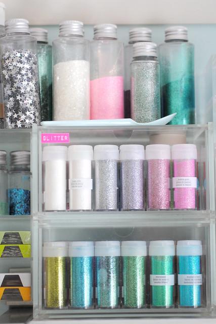 Organized glitter