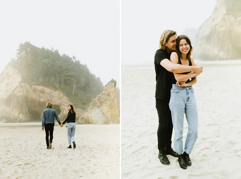 Hug Point Couple Session // Ben Sasso