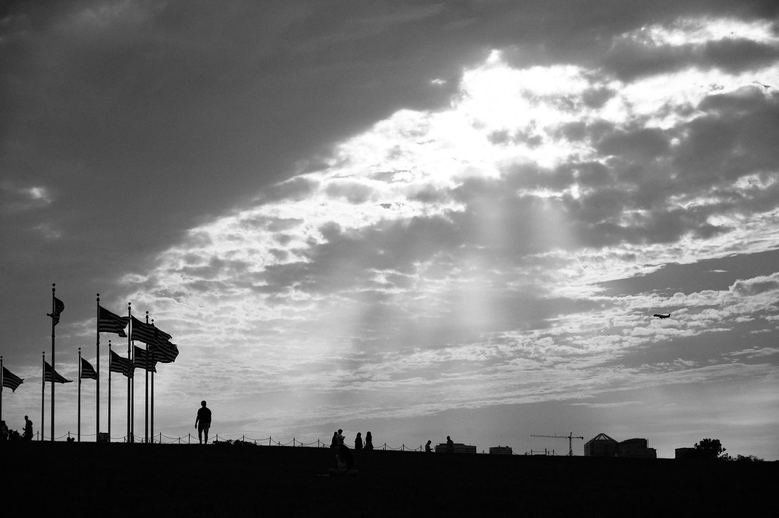 """Image titled """"Silhouettes, Washington Monument."""""""