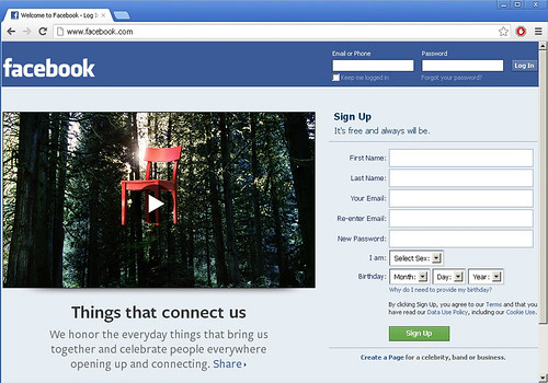 Facebook Eastwoods Its Homepage