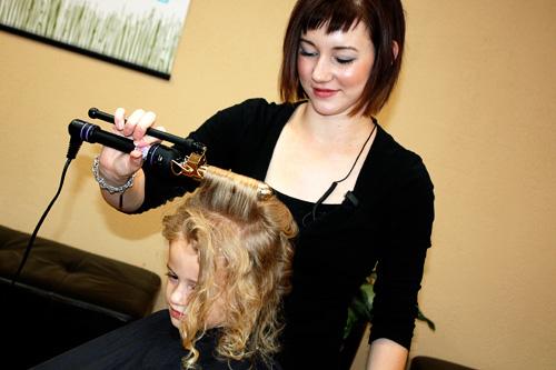 Autumn-getting-hair-done