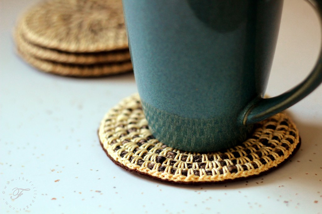 coiled rope inspired coasters