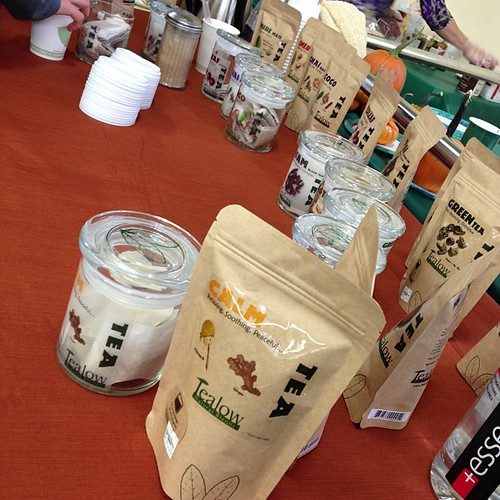 Yum- love the tea. :-) You might have to fight the crowd though to get a sample! #gr @Harvest_Health