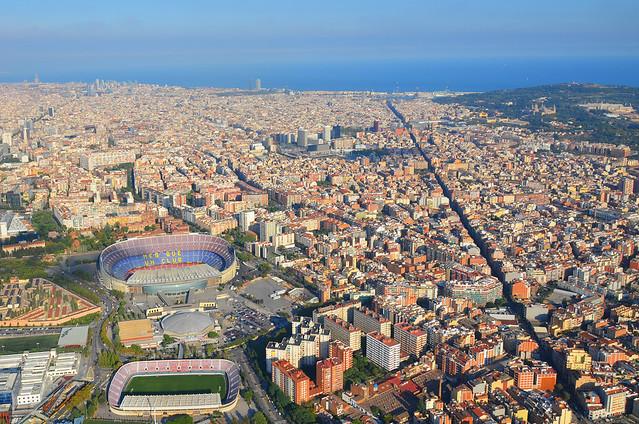 Vistas de Barcelona desde el aire