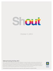 2012 National Coming Out Day poster