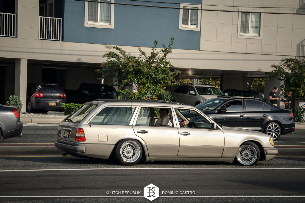 gold silver mercedes wagon bbs rs at h2oI 2012 3pc wheels static airride low slammed coilovers stance stanced hellaflush poke tuck negative postive camber fitment fitted tire stretch laid out hard parked seen on klutch republik
