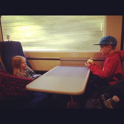 Chillin' on the train. Goodbye #London, hello #Suffolk.