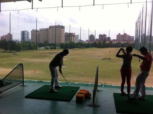 Driving range at the Hongmei Lu golf club