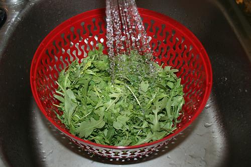 30 - Rucola waschen / Clean rucola