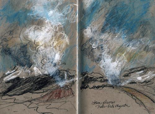 Iceland: steam plumes near Lake Myvatn