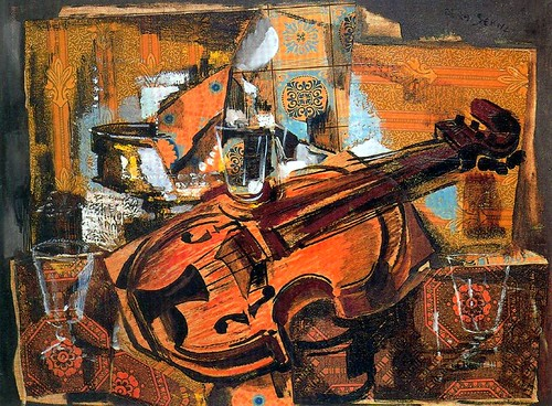 Serna, Ismael de la (1897-1968) - 1931 Violin Still Life