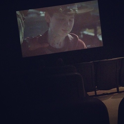 The Walking Dead on the big screen!  #TWD #movie #theater