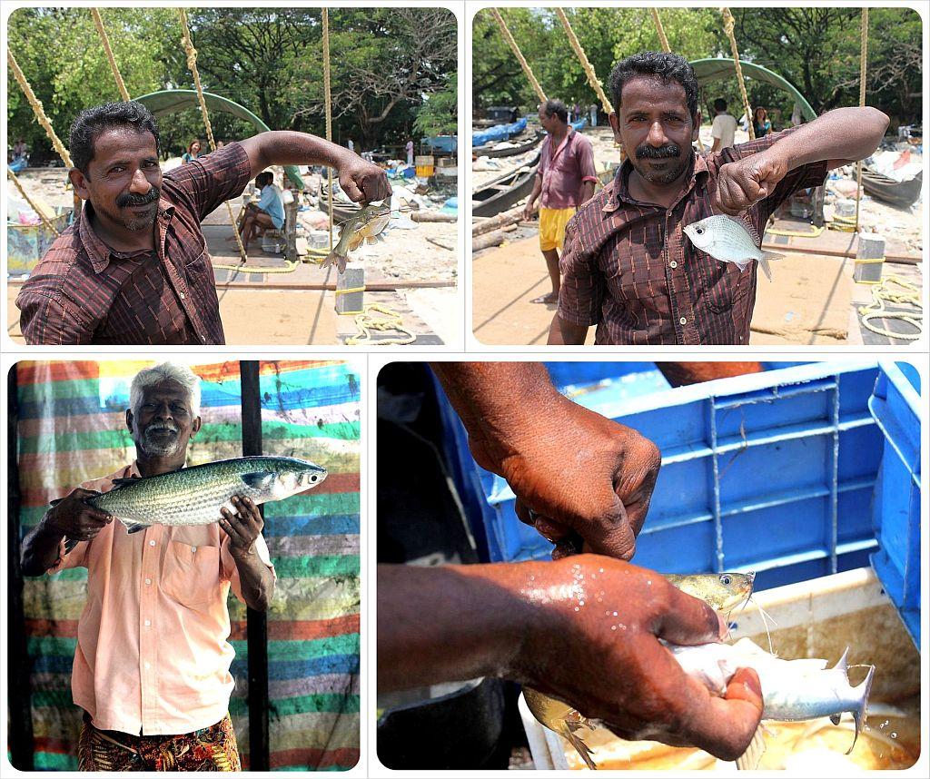Fishermen in Fort Cochin Kerala