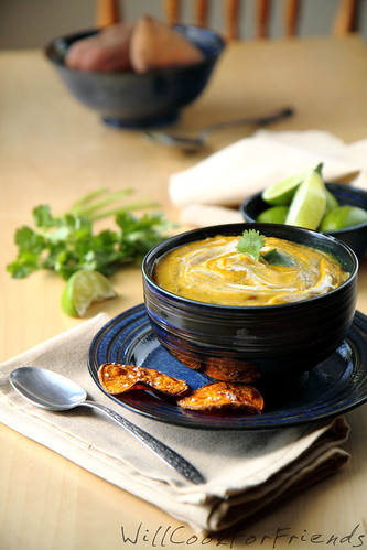 Curried Sweet Potato Soup 1/2