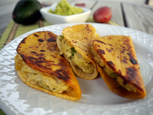 South-of-the-Border Potato Tacos with Avocado Sauce from Vegan Junk Food (0008)