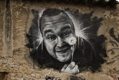 Kim Dotcom, painted portrait by Cart'1 DDC_7614