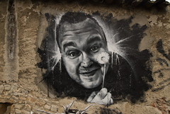 Kim Dotcom, painted portrait by Cart'1 @ Abode of Chaos DDC_7614