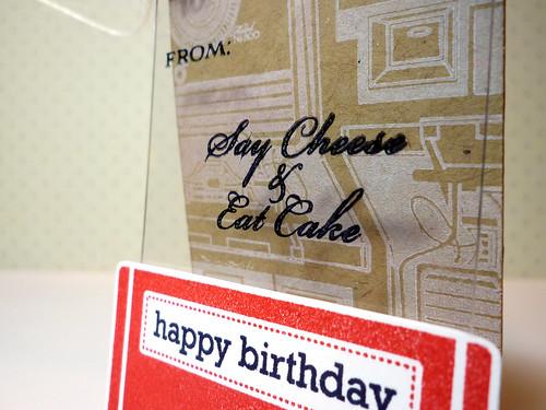 Happy Birthday Tag - Close Up