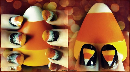 Candy Corn Nails 2012