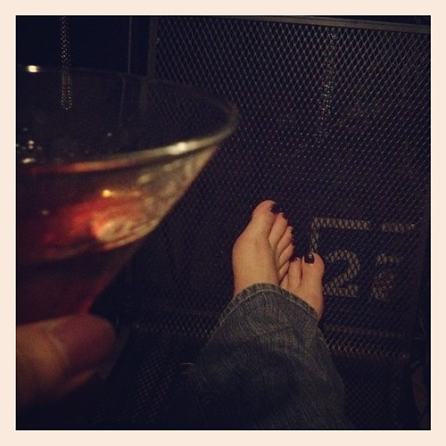 Bare feet and a Cosmo on a warm and humid autumn night.