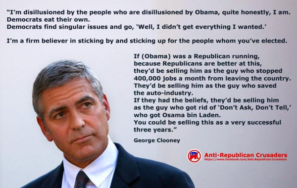 George Clooney in ad by Anti-Republican Crusaders