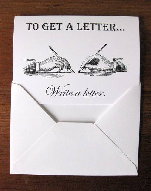 Notecards: To Get a Letter, Write a Letter