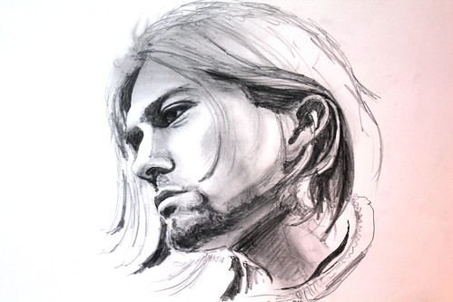 ritratto Kurt Cobain - 2012 - matita su foglio da disegno