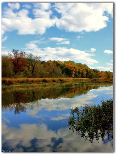 sky clouds reflections autumncolors pa harrisburg wildwoodlake canoneosrebelt2i shannonroseoshea viewfromtheboatramp