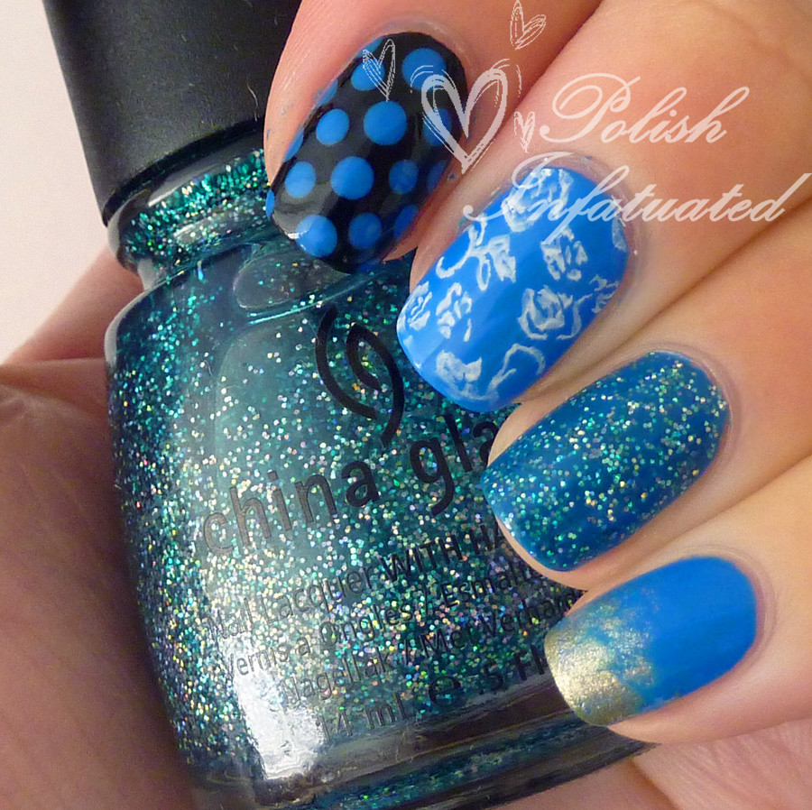 the blues-polka dot, flowers, butterflies and glitter1
