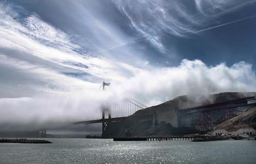 fog goldengatebridge sanfranciscobay fortbaker