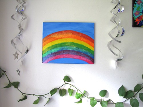 rainbow painting wall