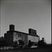 Half moon over grain terminal (Red Hook) by Ed Brydon