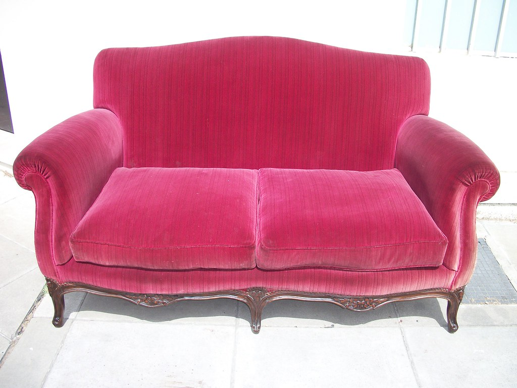 Sillon estilo luis xv frances de 2 cuerpos sofa sala for Sofa estilo frances